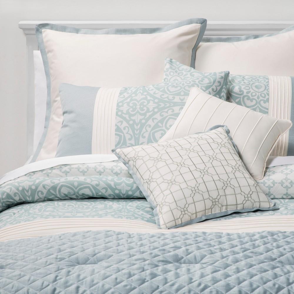 Image of King 8pc Brighton Comforter Set Teal - Sunham Home Fashions