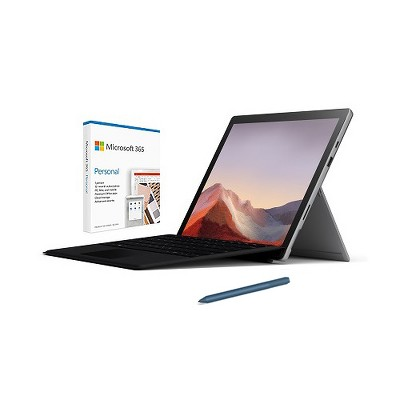 "Microsoft Surface Pro 7 12.3"" Intel Core i5 8GB RAM 128GB SSD Platinum + Surface Pro Signature Type Cover Black+Surface Pen Ice Blue+Microsoft 365 ..."