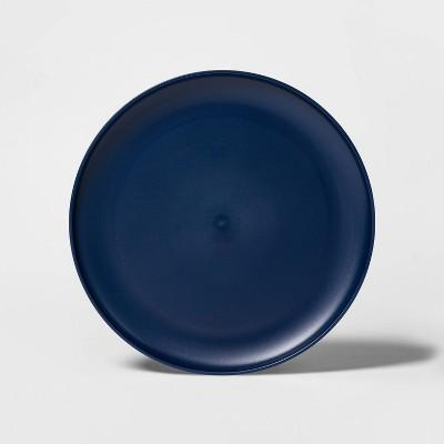 "10.5"" Plastic Dinner Plate Blue - Room Essentials™"