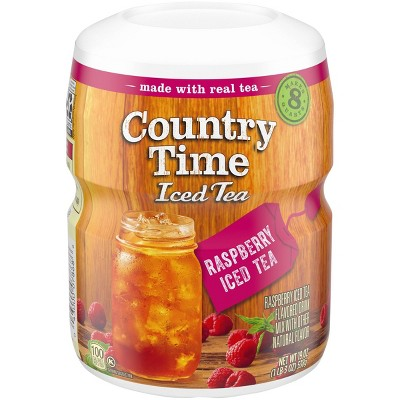Country Time Iced Tea Raspberry Patch - 19.0oz Canister