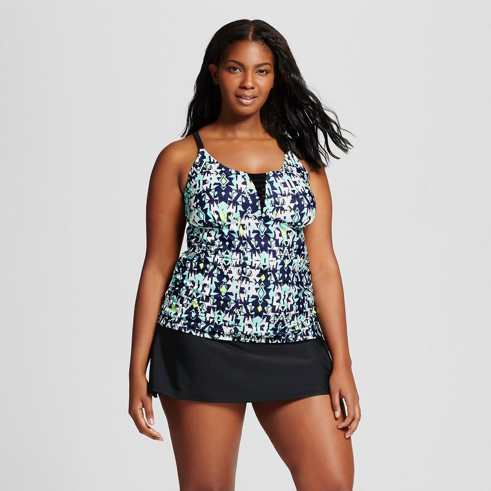 Women's Plus Size Strap Detail Front - Ava & Viv - Navy (Blue) 20W