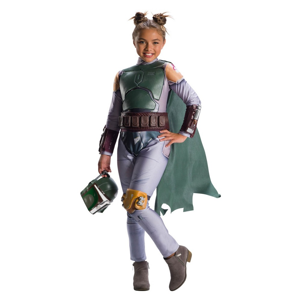 Star Wars Girls' Classic Boba Fett Halloween Costume - S, Multicolored