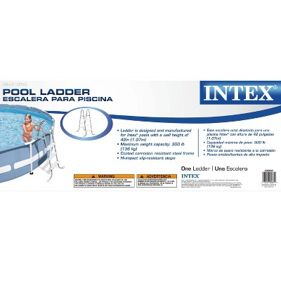 "Intex 10' x 30"" Above Ground Swimming Pool w/ 330 GPH Filter Pump & Pool Ladder"