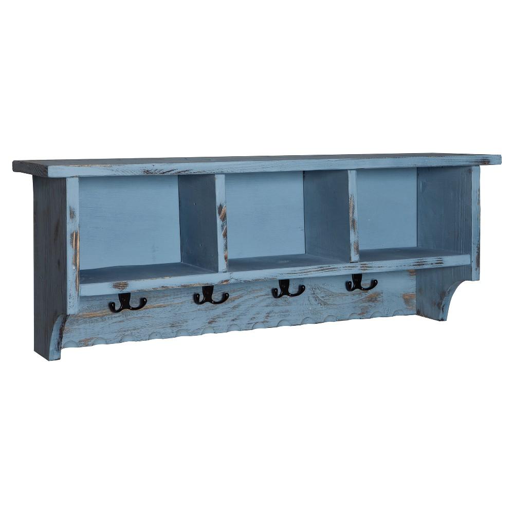 36 Wall Mounted Coat Rack Hardwood Blue - Alaterre Furniture