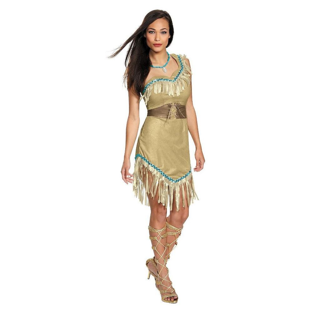 Image of Halloween Women's Disney Princess Pocahontas Deluxe Costume- Large, Beige