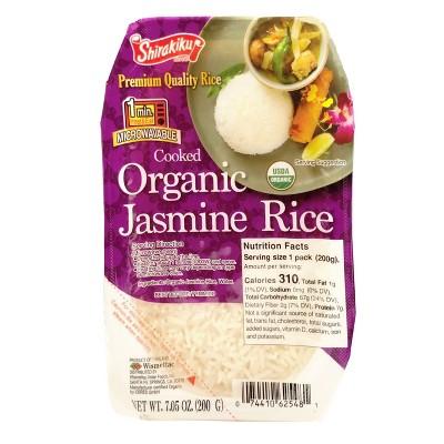 Shirakiku Organic Microwavable Jasmine Rice - 7.05oz