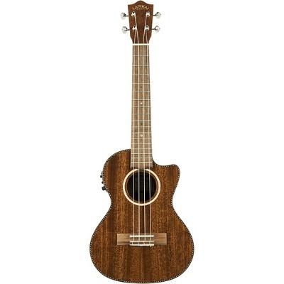 Lanikai MAS-CET All Solid Mahogany Tenor with Kula Preamp Acoustic-Electric Ukulele Mahogany