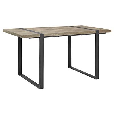 Urban Blend Metal and Wood Rectangle Dining Table - Saracina Home