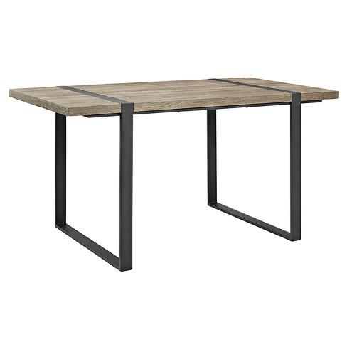 "60"" Urban Blend Metal and Wood Rectangle Dining Table - Saracina Home - image 1 of 4"