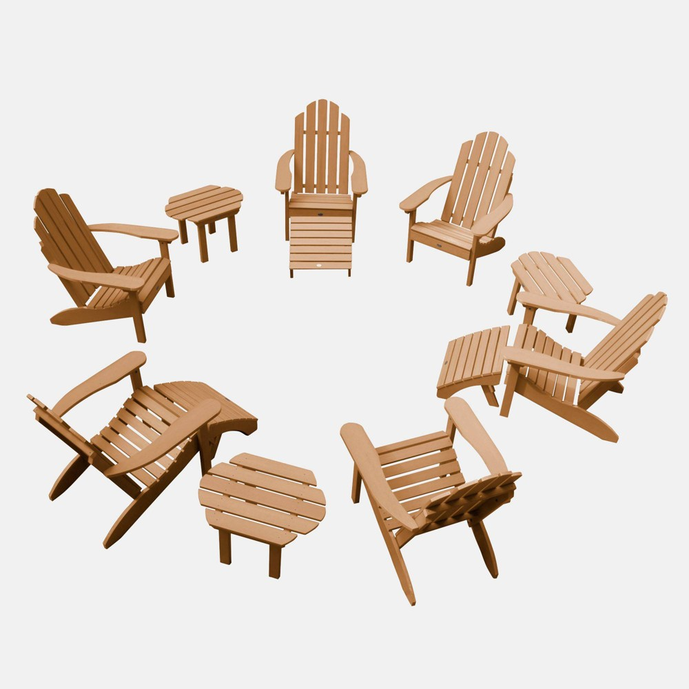 Image of 12pc Classic Westport Adirondack Patio Set Coastal Toffee - highwood
