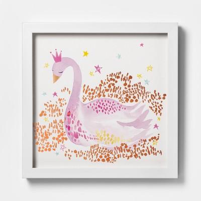 Metallic Swan Wall Print - Pillowfort™