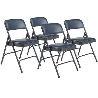 Set of 4 Premium Vinyl Padded Folding Chairs - Hampton Collection