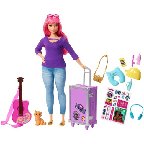 Barbie Daisy Travel Doll & Kitten Playset - image 1 of 8