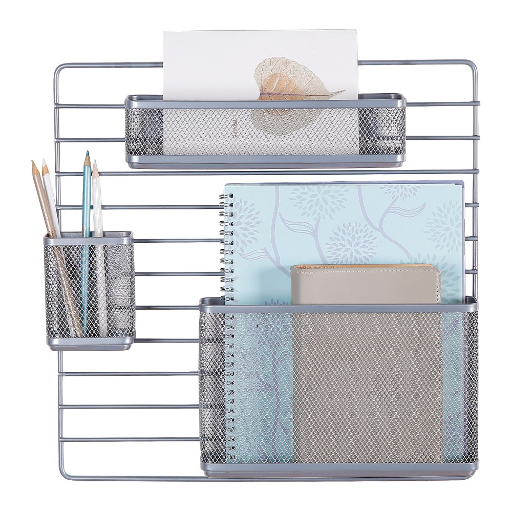 Mesh Additional Wall Organization Tools Silver Made By Design 8482
