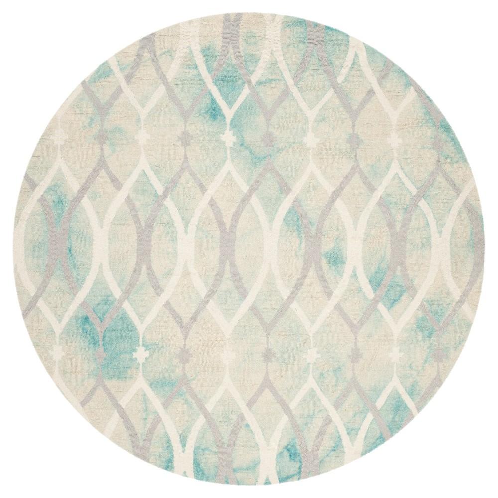Garret Area Rug - Green/Ivory Gray (7'x7' Round) - Safavieh