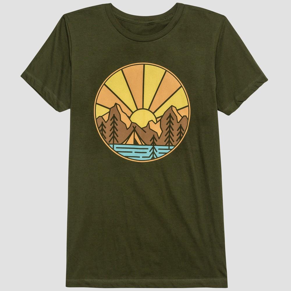 Men's Roam Free Short Sleeve Graphic T-Shirt - Orchid Leaf M, Green