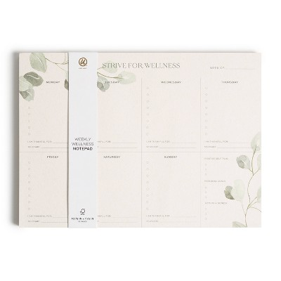 "10.75""x7.75"" Weekly Wellness Spiral Subject Notepad - U Brands"