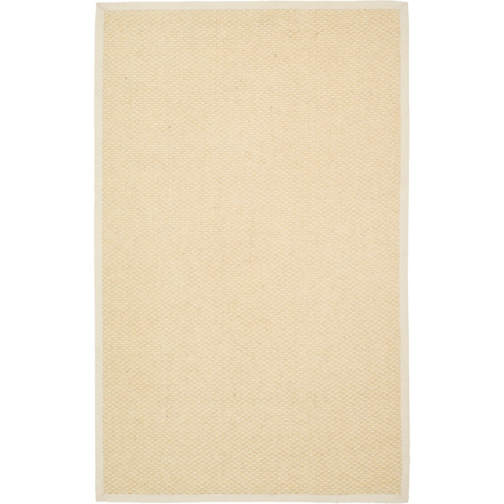 4'X6' Solid Loomed Area Rug Cream/Light Gray (Ivory/Light Gray) - Safavieh