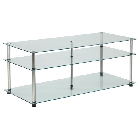 3 Tier Coffee Table Glass - Johar Furniture - image 1 of 4