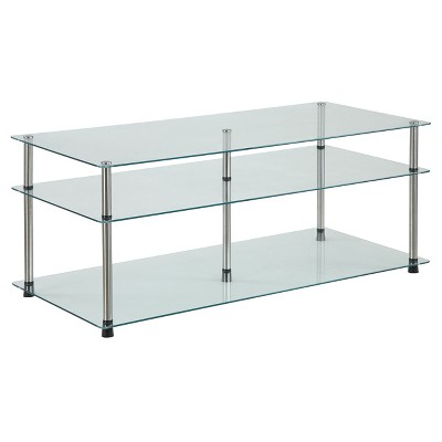 Bon 3 Tier Coffee Table   Glass   Convenience Concepts