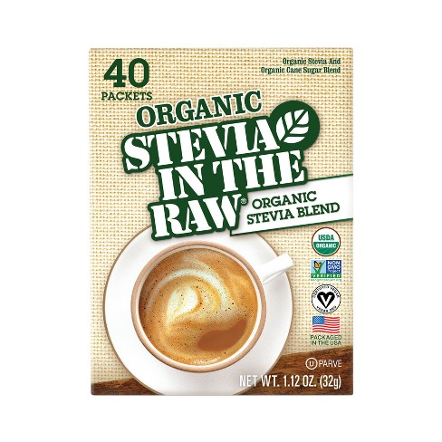 Organic Stevia In The Raw Zero Calorie Sweetener Packets - 40ct/1.12oz - image 1 of 3