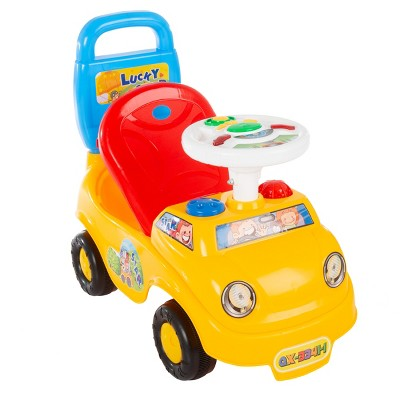 Toy Time Kids Ride-On/Push Car With Lights and Sounds