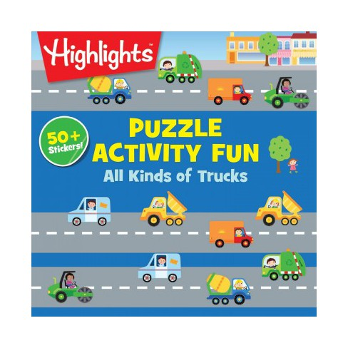 All Kinds of Truck Puzzles - (Puzzle Activity Fun) (Paperback) - image 1 of 1