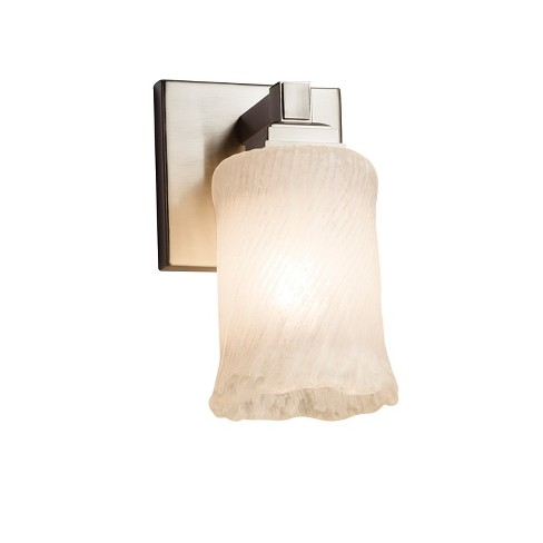 "Justice Design Group GLA-8431-16-WHTW-LED1-700 Veneto Luce 4.5"" Regency 1 Light LED Wall Sconce - image 1 of 2"