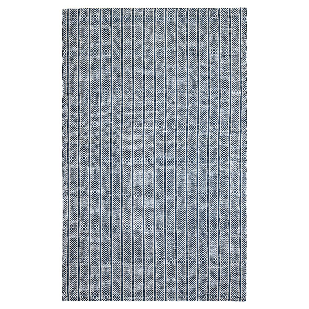 Blue Shapes Woven Area Rug 8'X10' - Anji Mountain