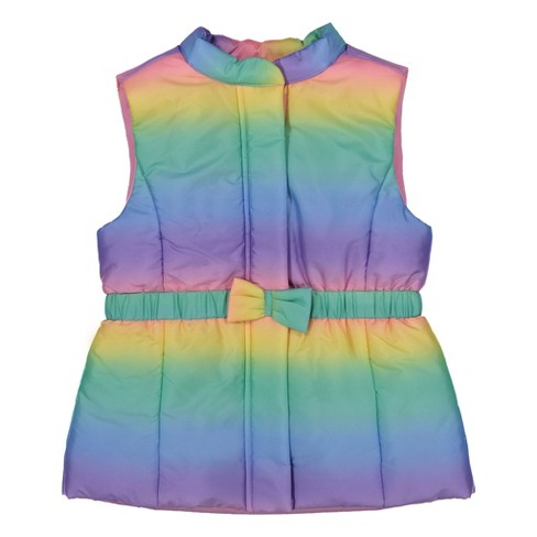 Andy & Evan  Toddler Girls Rainbow Puffer Vest - image 1 of 4