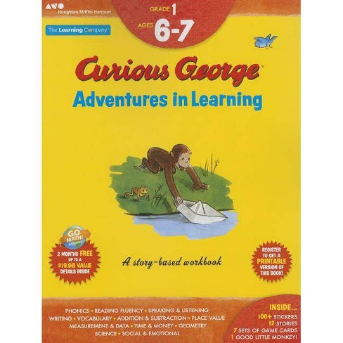 Curious George Adventures in Learning, Grade 1 - (Learning with Curious George) (Paperback) - image 1 of 1