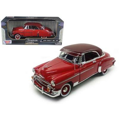1950 Chevrolet Bel Air Red 1/18 Diecast Car Model by Motormax