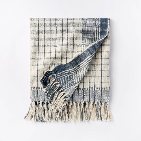 Woven Cotton Plaid Throw Blanket - Threshold™ designed with Studio McGee - image 1 of 4