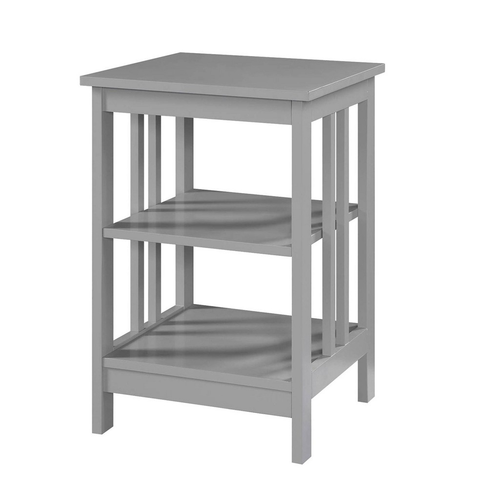Mission End Table Gray - Johar Furniture Mission End Table Gray - Johar Furniture