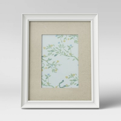 """5"""" x 7"""" Wood Gallery Frame with Opening White - Threshold™"""