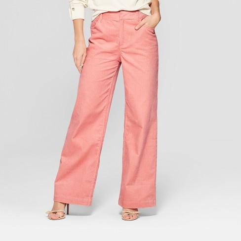 30ccca9170a6 Women s Corduroy Street Sweeper Pants - Who What Wear™ Pink   Target