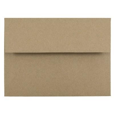 JAM Paper A6 Invitation Envelopes 4.75 x 6.5 Brown Kraft Paper Bag LEKR650
