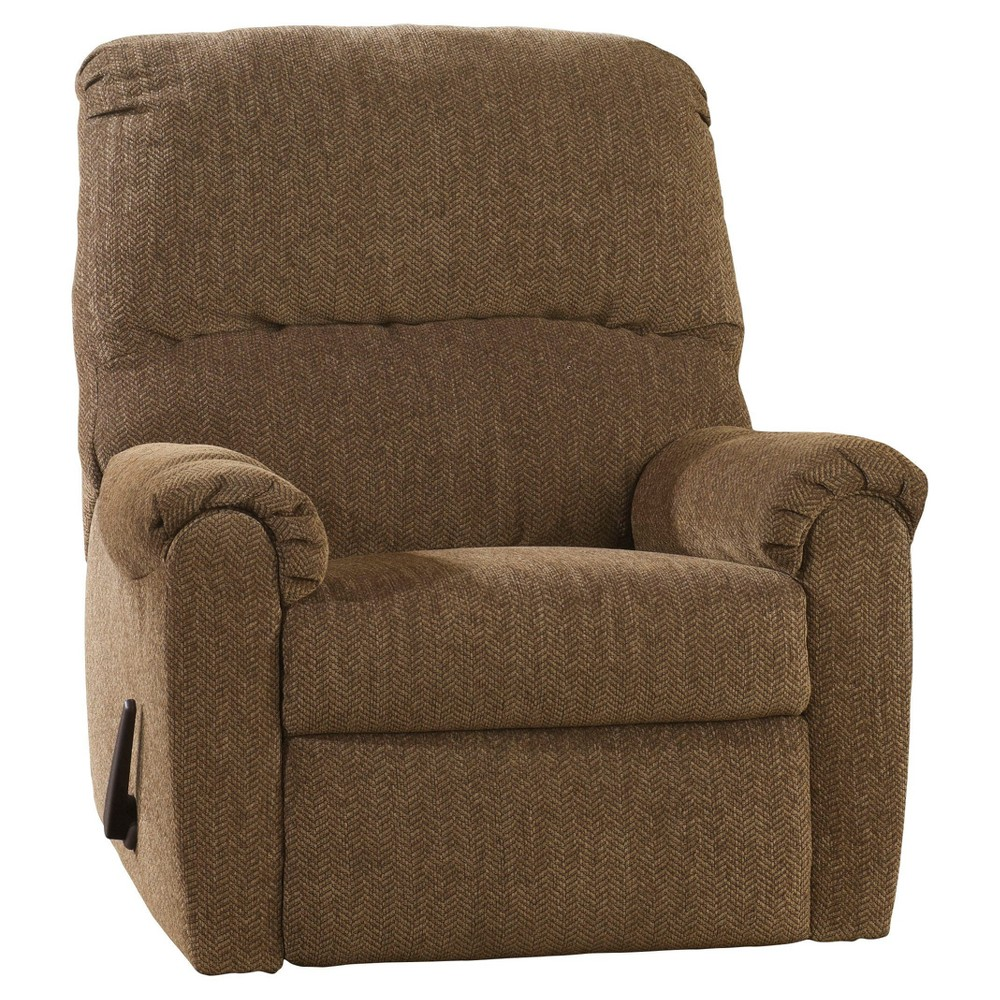 Pranit Zero Wall Recliner - Walnut (Brown) - Signature Design by Ashley