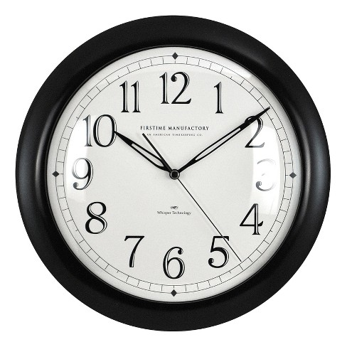 "Whisper 11"" Round Wall Clock Black - FirsTime® - image 1 of 2"