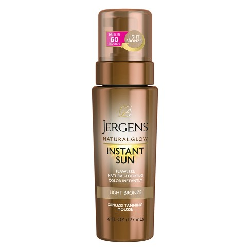 Jergens Natural Glow Instant Sun Moisturizing Lotion- Light Bronze (6 Oz) : Target