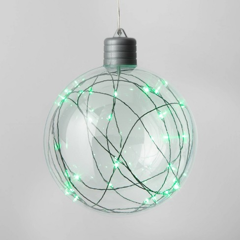 Christmas LED 5.25in Clear Sphere Novelty Sculpture with 30 Dewdrop Lights Green - Wondershop™ - image 1 of 4