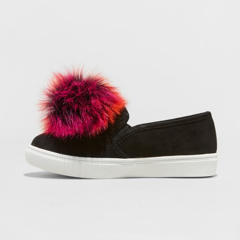 fda8bc6ab992 Girls' Stevies #BRIGHTEYED Pom Pom Sneakers - Black : Target