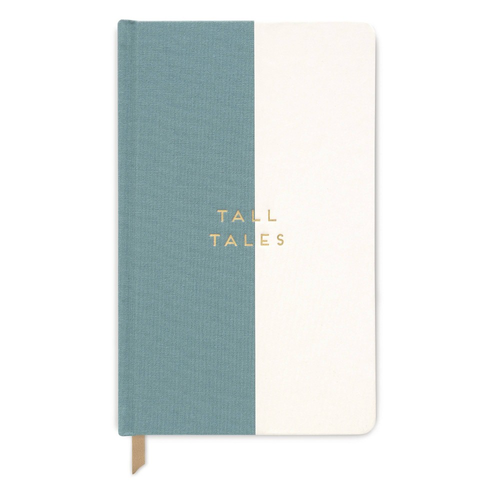 Image of Lined Journal Halfsies Tall Tales Seafoam Green- Designworks Ink