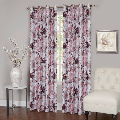 "63""x50"" Tranquil Lined Blackout Grommet Top Window Curtain Panel Pink - Achim"