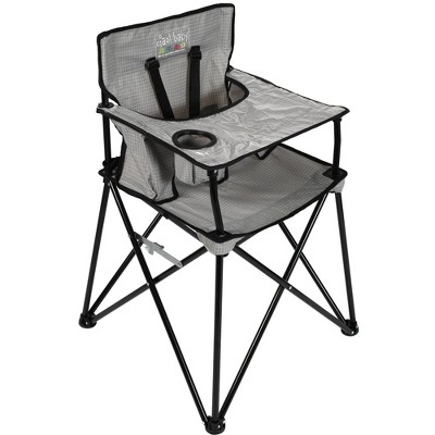 Ciao Baby Portable High Chair Gray Check
