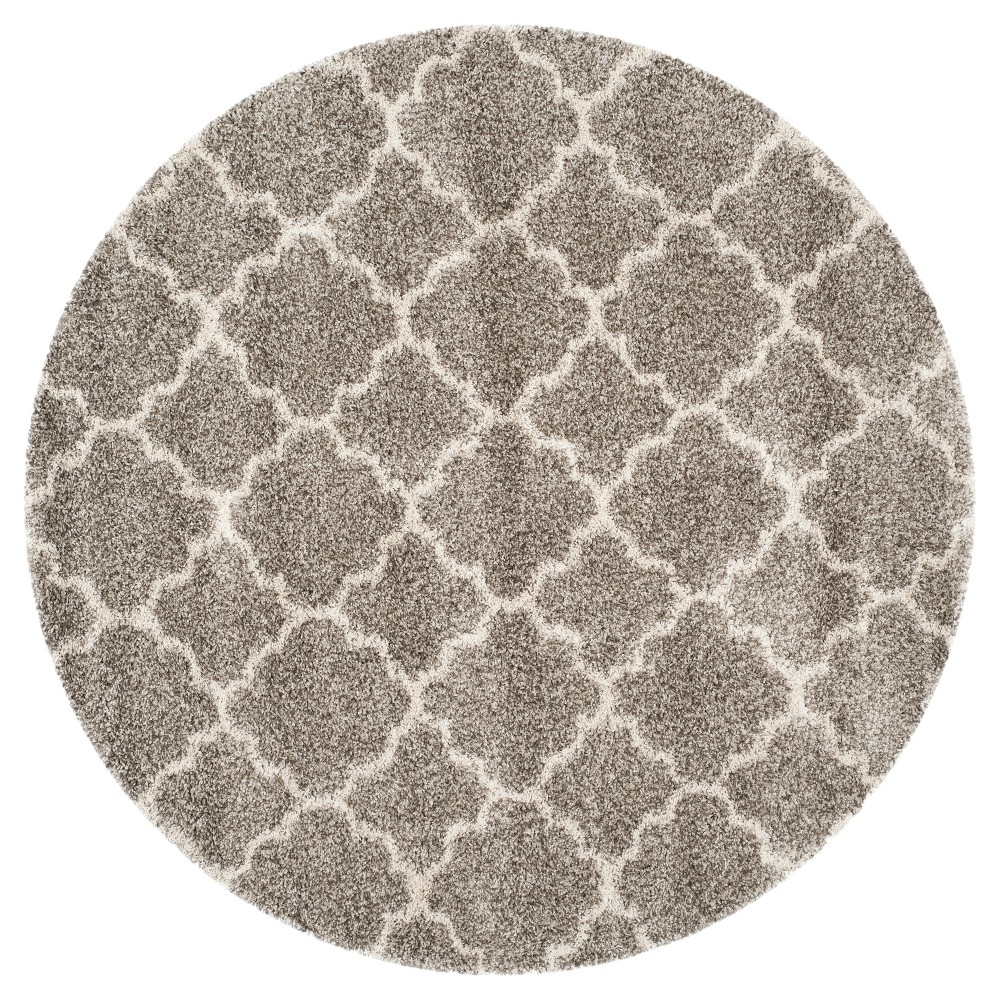 Hudson Shag Rug - Gray/Ivory - (9'X9' Round) - Safavieh