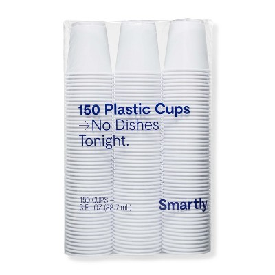 White Disposable Cup - 3 fl oz - 150ct - Smartly™