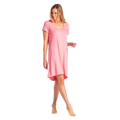 Softies Women's Sleep Shirt with Contrast Piping