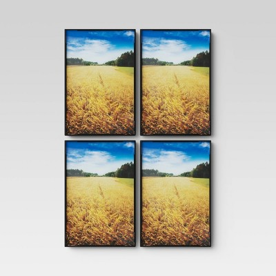 "4"" X 6"" Set of 4 Format Frames Black - Room Essentials™"