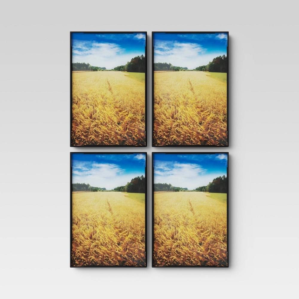 """Image of """"4"""""""" X 6"""""""" Set of 4 Format Frames Black - Room Essentials"""""""